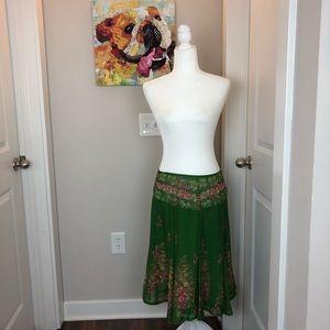 0213 Anthropologie Odille green skirt 6